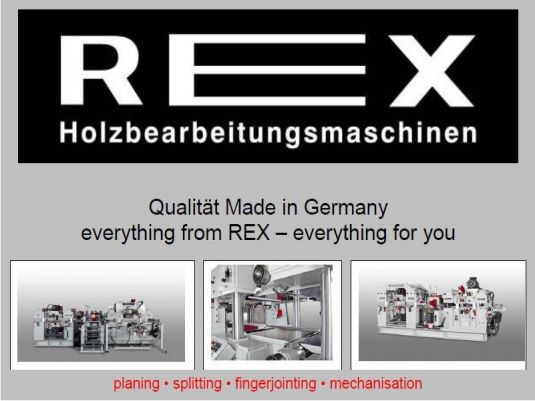 REX Planing, Splitting, Finger Jointing, and Mechanization for CLT, Beams, and Timber Production